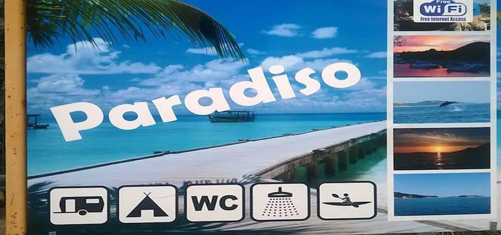 Paradiso reklamni pano