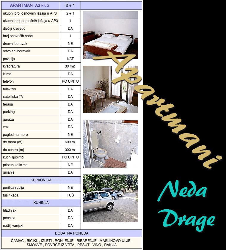 Apartman A3 klub - karakteristike