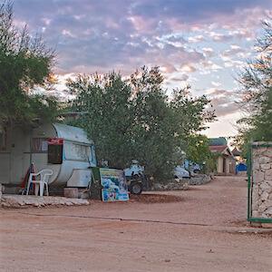 Eingang des Lagers Ankundigung