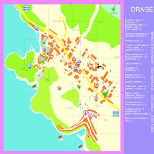 Die Plan Orte Drage hervorgehoben