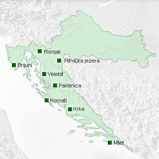 Nacionalni parkovi karta