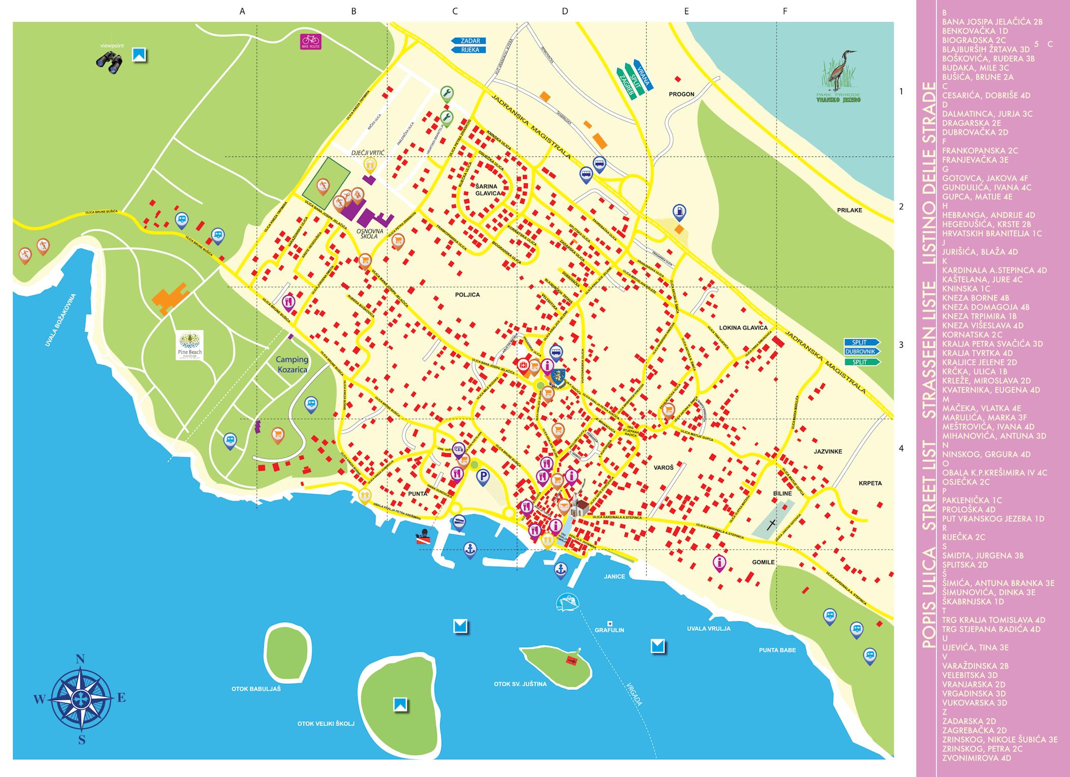 Plan mjesta Pakostane