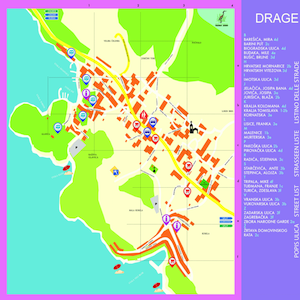 The plan places Drage featured